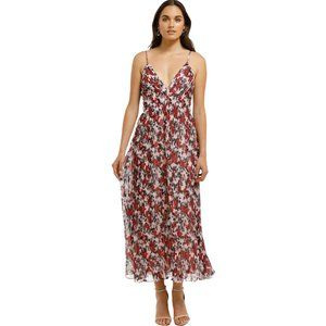 TALULAH Rosetto Floral Flowy Pleated Maxi Dress L